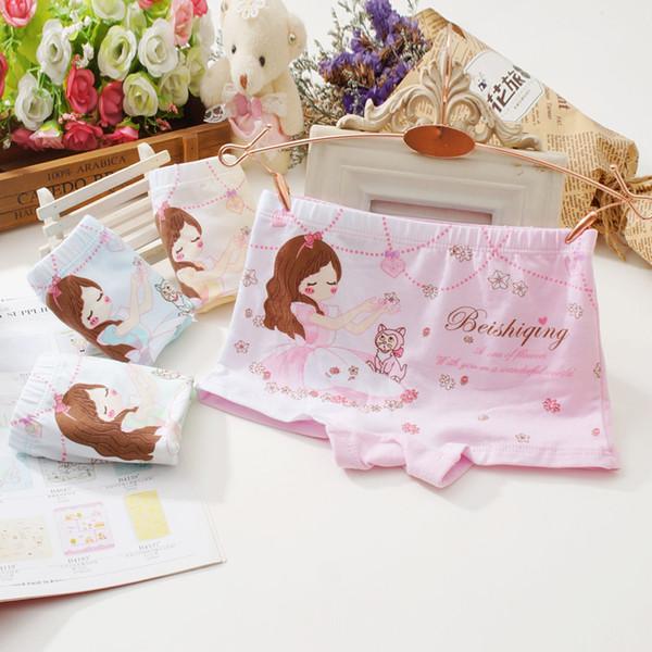 top popular Factory Outlet GU04 New Girls Boxers Kids Briefs Hight Quality Children's Underwear Baby Cartoon Bunny Underwear Girls Cotton Boxer Briefs 2019