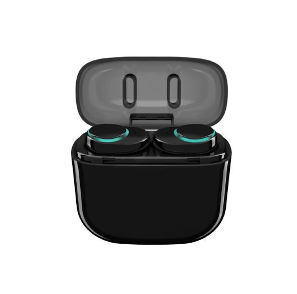 mini wireless earphone noise canceling tws headphone bluetooth headset with power bank box for iphone 8/android