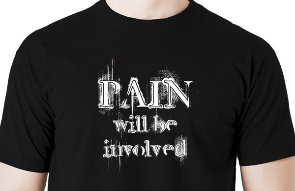 Pain will be involved t shirt -mask restraint cuff T shirt hood ball gag collarHigh Quality Top Tees