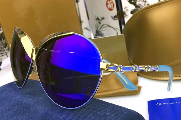 Acheter Vintage Luxe Miroir Classique Uv400 High Soleil Métal Lunettes Marque Designer Ronde Grade De Hop Steampunk Revêtement Hip Retro RA54Lj3