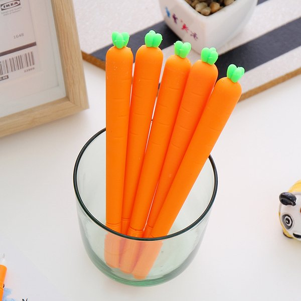 (1pcs/sell) 0.7mm Cute Kawaii Red Carrot Ball Ballpoint Pens Ballpen For Office School Writing Supplies Stationery