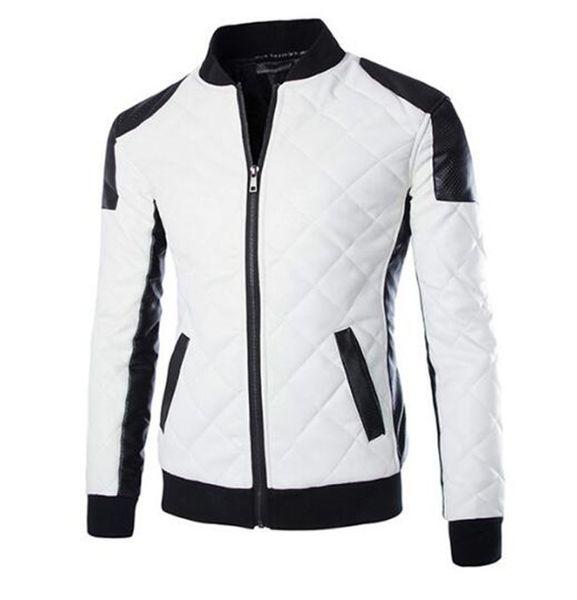 New Motorcycle Jackets Men Vintage Retro PU Leather Jacket Punk Windproof Biker Racing Classical Casual Lapel Moto Jacket