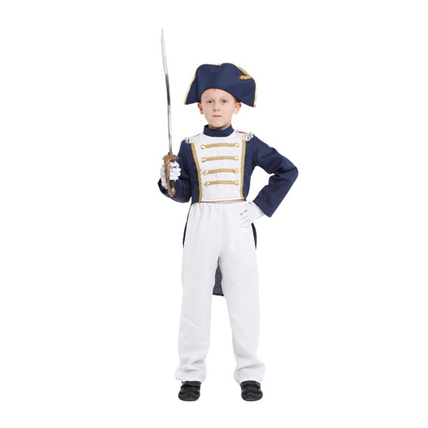 HUIHONSHE New Kids Napoleon Costume for Boys Christmas Carnival Halloween Masquerade Party Fancy Dress Children Cosplay Clothes