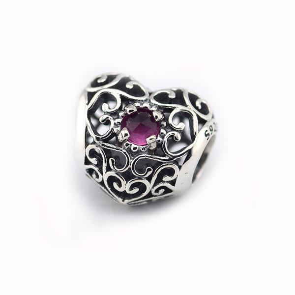 GENUINE July birthstone charm fits Pandora style bracelets H9