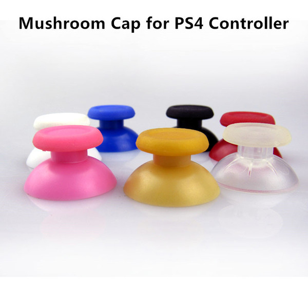 top popular Free shipping Plastic Mushroom Button Cap for PS4 Controller black, Red, Pink, Blue, Green, Gold, White, Crystal Color 2020