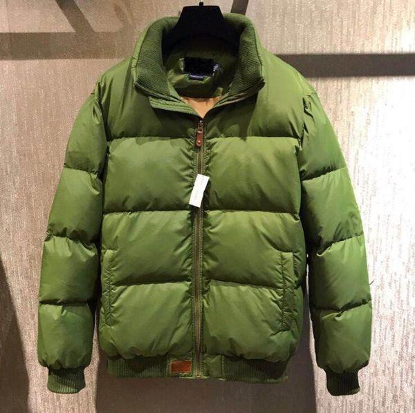 2018 Gola de Inverno Quente Bandeira Famosa Pônei Para Baixo jaqueta Moda Apliques Zipper Outerwear mais esportes cor de algodão Cavalo Parkas casacos