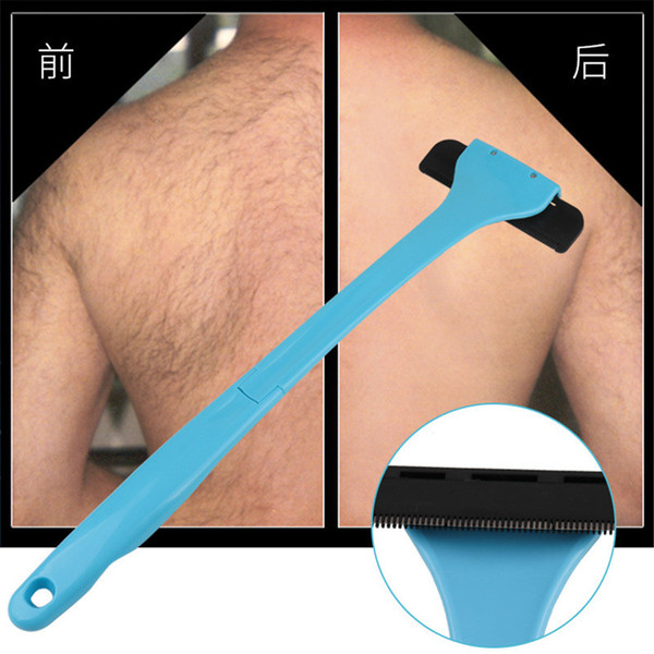 Men Manual Back Shaver Hair Remover Plastic Long Handle Shaver Back Hair Shaver Razor Evan Shaving All Body Parts Hair Blade Remover 3006065