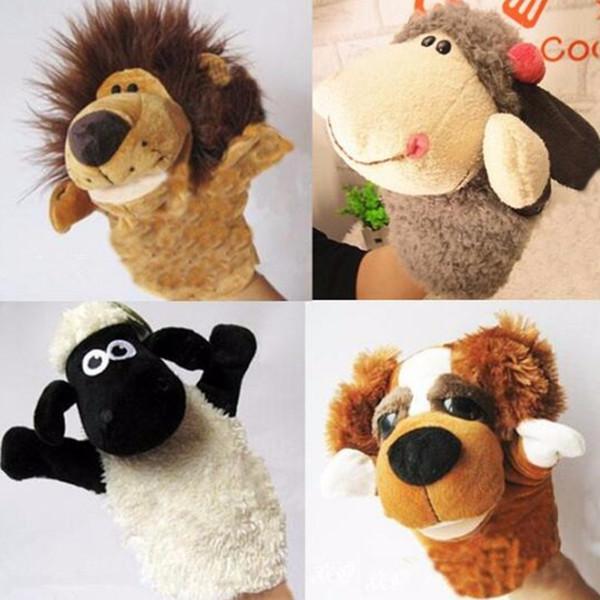 귀여운 애니메이션 카와이이 장난감 인형 손 장갑 동물 인형 장난감 인형 애니메이션 동물 인형 학습 무료 배송