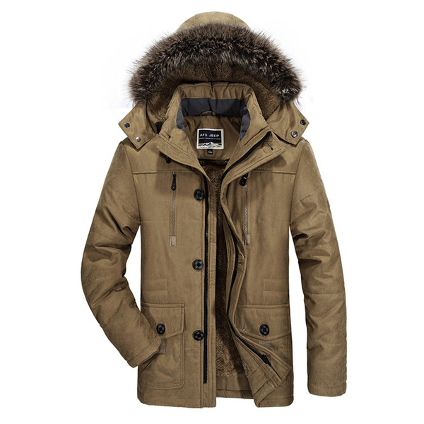 Männer Winter Parka Plus Größe 5XL 6XL Kapuzenkragen Jacke Männer 140