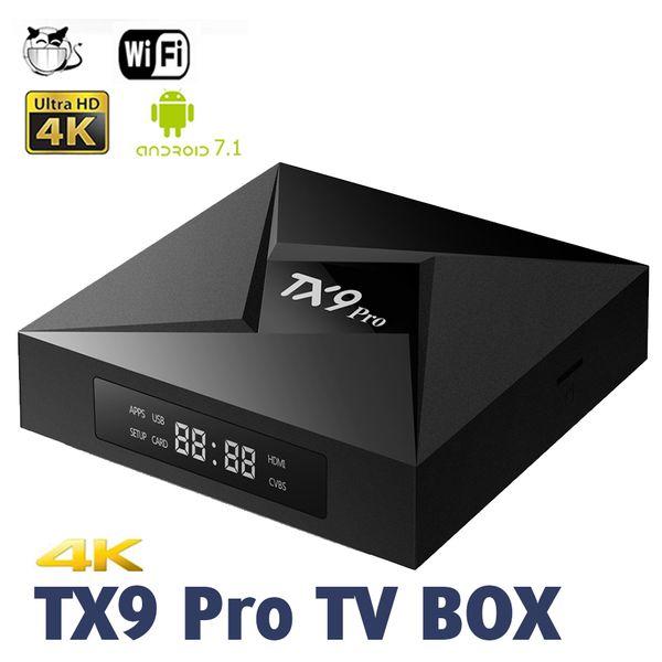 TX9 PRO Octa Core Android 7.1 Amlogic S912 TV BOX 3G 32G 2.4G 5G WiFi Bluetooth Media Player VS T95Z PLUS M8S MXQ PRO with Retail Box
