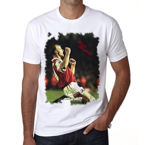 2018 Qualitäts-Marken-Mann-T-Shirt beiläufige Kurzhülse Dennis Bergkamp Mens T-Shirt Beiläufige männliche T-Shirt Männer übersteigt T-Stücke freies Verschiffen-T-Stücke