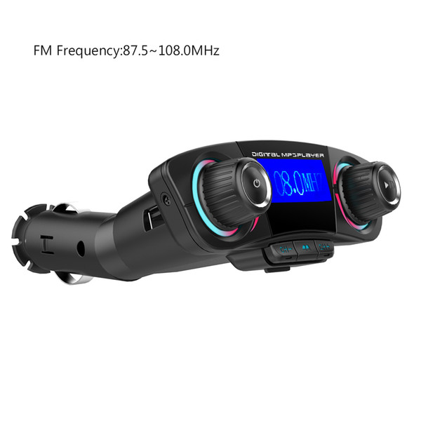 Car Mp3 Player Bluetooth 4.0 Hands-free FM Transmitters Car Kit Wireless Radio Adapter Dual USB Music 1.2 Inch LED Screen AUX