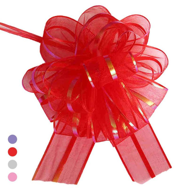 Pull Flower Ribbon Bow Gift Wrap Candy Box Accessories DIY Wedding Car decor Supplies Flower Ribbons 2