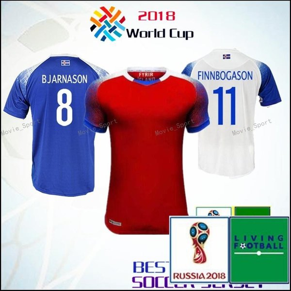 cfd031ba7 Iceland 2018 World Cup jerseys home away SIGURDSSON SIGTHORSSON top quality soccer  jerseys 18 19 Iceland