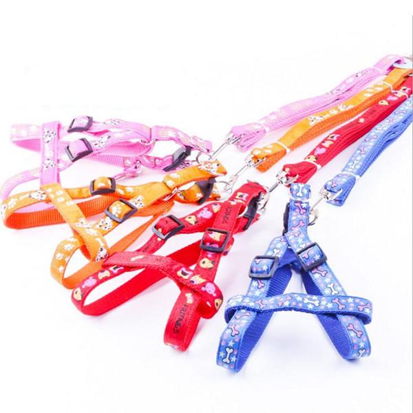 Verstellbarer, atmungsaktiver Hundegeschirr- und Leinengurt aus Nylon, Haustierweste, Seil, Brustgurt, Leinengurt, Halsband, Leinengurt für kleine Hunde