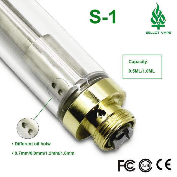 Gold 92A3 dual coil glass atomizer for CO2 oil OEM brand logo no leak dual coil glass tank A3 vape pen cartridge vaporizer