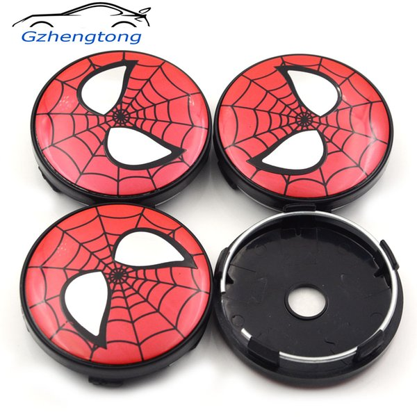 Gzhengtong 4pc/lot 60mm Funny Spider Man Symbol Car Wheel Center Caps Hubs Caps Emblem For Ford Shelby