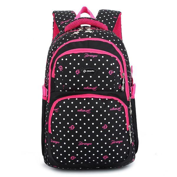 8dc69ecf40795 Newset Sırt Çantası Schoolbag Polyester Moda noktalar Okul Çantaları Genç  Kızlar ve Erkekler Için Yüksek Kaliteli