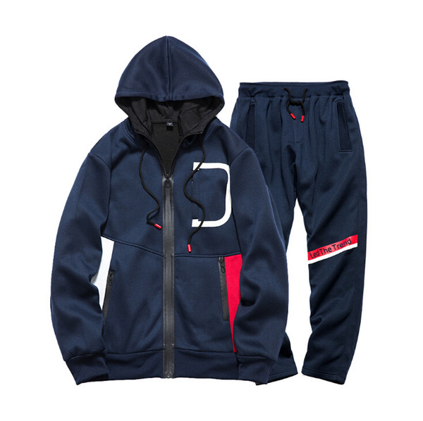 Men Sportswear Hoodie Sweatshirts Autumn Winter Jogger Sporting Suit Mens Sweat Suits Tracksuits Set