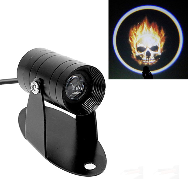 Fog Lamp Logo Laser Projector 3D LED Logo Light Tail Lighting Ghost Flaming Skull Motorcycle Spotlight