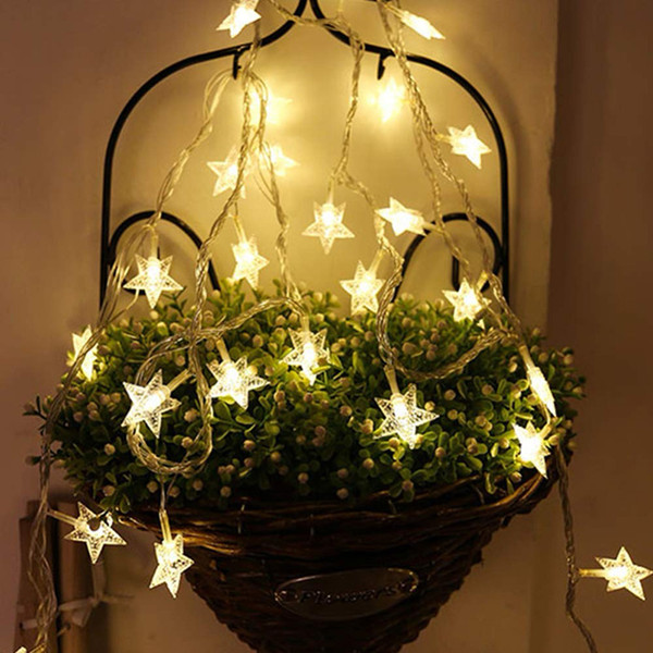 new styles 4cb1b 485d7 50mTwinkle Star 100 Leds 49 Ft Star String Lights Plug In Fairy String  Lights Extendable For Indoor Outdoor Commercial String Lights Led Light  Strings ...