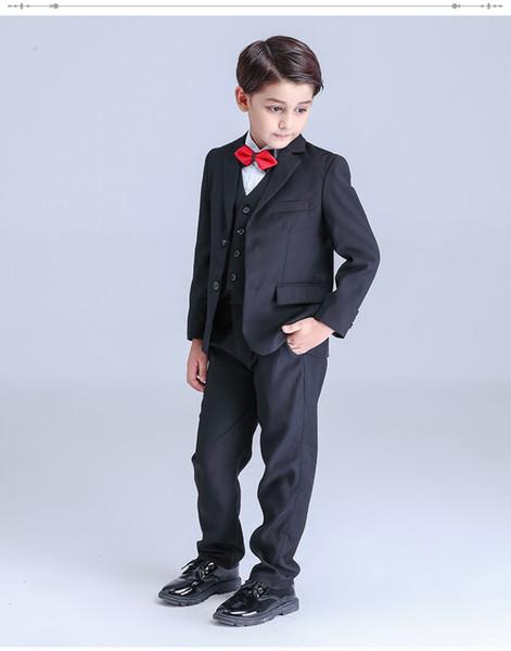 Terno para o menino Único Breasted meninos ternos para casamentos traje garcon meninos blazer jogging garcon 5 pcs Por conjunto