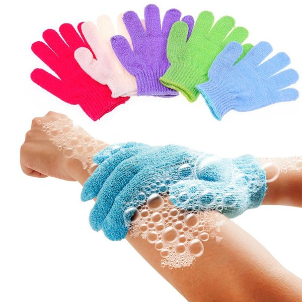 5Pcs Shower Bath Gloves Home Bathroom Body Massage Cleaning Loofah Scrubber Skin Spa Bath Gloves Foam Skid Resistance