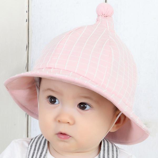Sombrero del sol del bebé con el borde ancho Protección solar ULTRAVIOLETA respirable niños ligeros sombrero del sol del niño del bebé del sombrero del cubo estilos de la moda