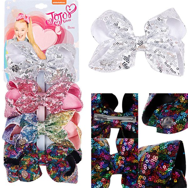 Baby Girls JoJo Boutique Hair Bows Alligator Clips for Teens Kids Fashion Hair Accessorices 4pcs/set Support FBA Drop Shipping H981Q