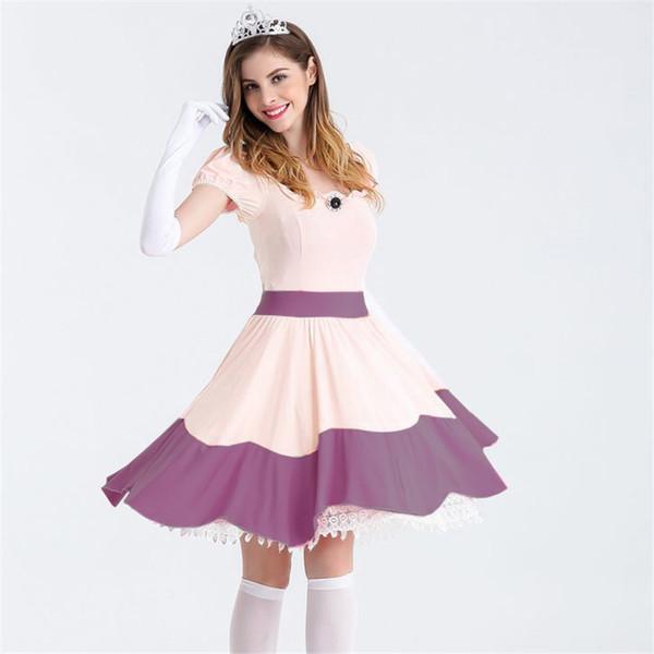 Sexy Princess Dress Fairy Tale Stage Performance Costume Purple Plus Size Cosplay Halloween Theme Fancy Dress