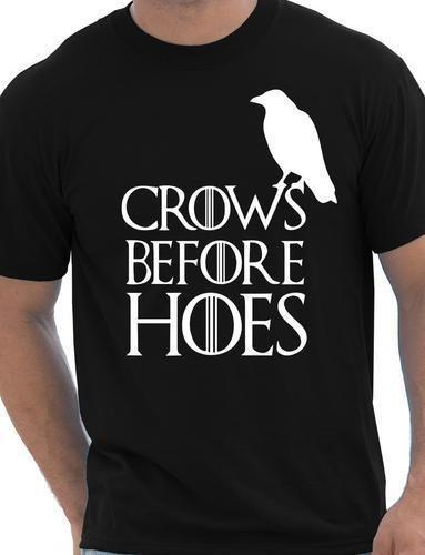 Hoes Önce Kargalar Tahtlar Game Of Thrones Nights İzle Mens T gömlek Boyut S-