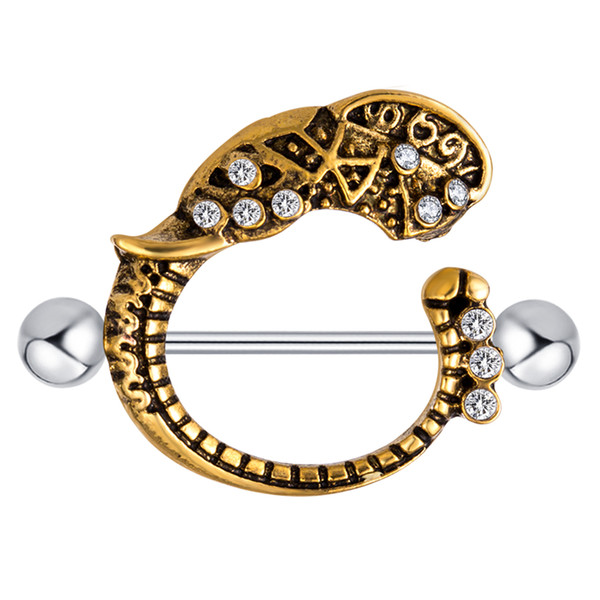 Nipple Shield Fake Nipple Ring Stainless Steel 14g Barbell Bar Fashion Body Jewelry Earring Tragus Piercing 20pcs