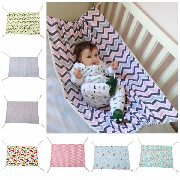 Baby Kinderschaukel Hängematte Säuglingsschlafenbett Kind Schlafen Schaukeln Neugeborenen Babys Baumwolle Krippen Faltbare Betten 7 Farben LM22