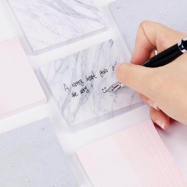 1PC Marble Texture Self Adhesive Memo Pad Sticky Notes Sticker Label School Office Supply Escolar Papelaria