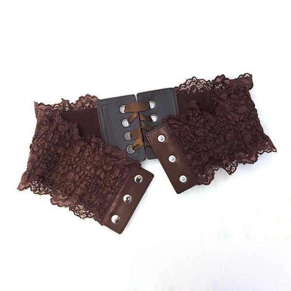 Cinture elastiche del corsetto del pizzo largo bianco nero di modo di Winfox per le cinghie del cinturino del bottone di Snap degli occhielli femminili di Silmming