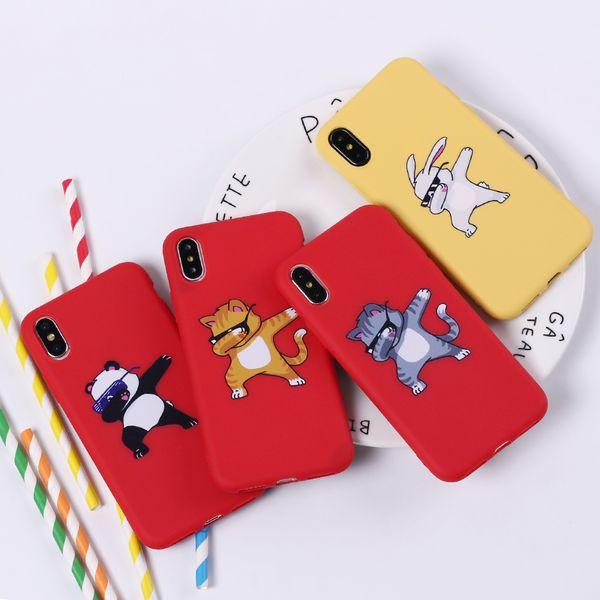 Housse Telephone Portable Dessin Animé Mignon Panda Dab Swag Sur Coque En Silicone Souple Coque Fundas Pour Iphone 7 7 Plus 6 6 S 6 Plus 5 5 S 8 8