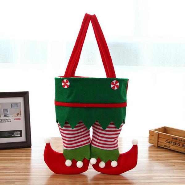 Non Woven Fabric Christmas Elf Bag New Candy Bag Santa Gift Bag Kids X-mas Party Decoration Ornament Gift