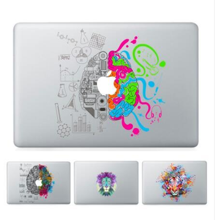 free shipping Laptop Vinyl Partial Decal DIY Personality Sticker Left&Right Brain Print Skin For Macbook Air Pro Retina Touch Bar