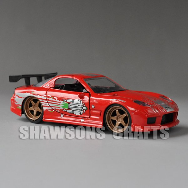 FAST FURIOUS JADA DIECAST VEHICLE MODEL TOYS 1:32 1993 MAZDA RX-7 RACING CAR REPLICA