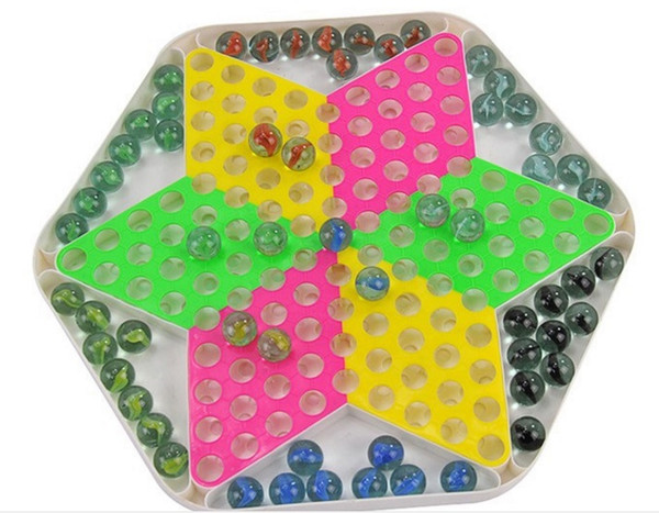 best selling Chinese Checkers Plastic Chessboard Classic Marbles Family Set Fun Game Toy Stimulate Potential and Enhance Cooperation Skills Game