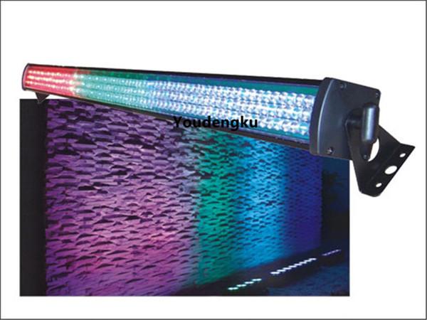 4 piezas Profesional Efffect Light DMX Wall Washer 252pcs 10mm rgb wash interior LED Strobe Light Bar