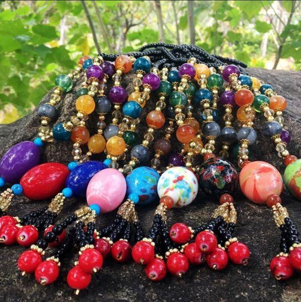 National style sweater chain clothes hanger antique pendant Decoration female long necklace 100 accessories ornament pendant autumn winter