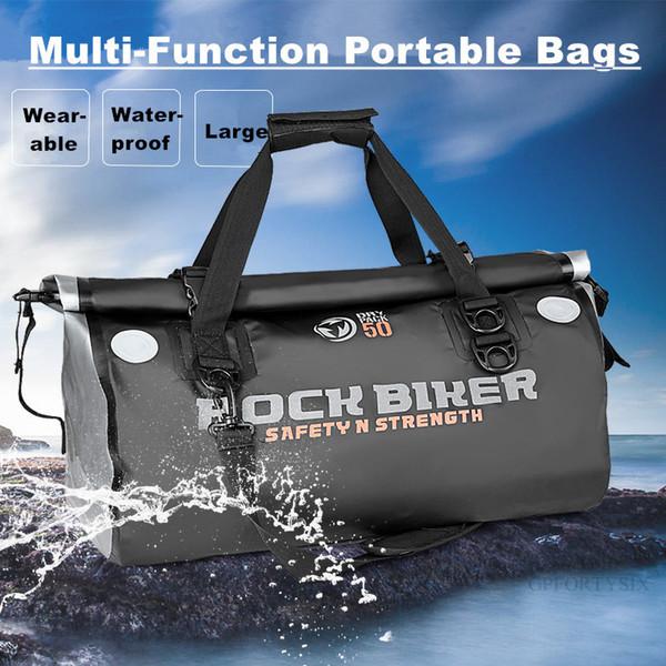 ROCK BIKER Tank Bags Men Women Motorcycle Helmet Backpack Journey Tote Bag Moto 100% Waterproof PVC Travel Equipment Luggage Bag