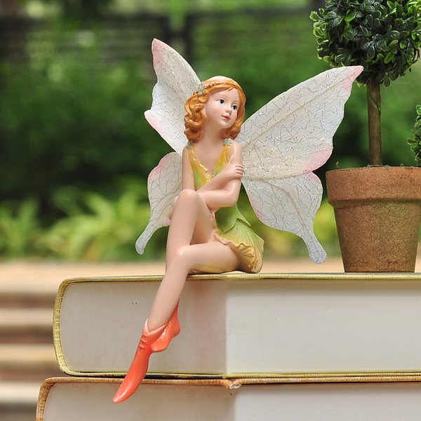 Smallsweet Resin Pastoral Fairy Figurines & Miniatures Home Decoration Accessories Vintage Home Decor Fairy Garden Miniatures New