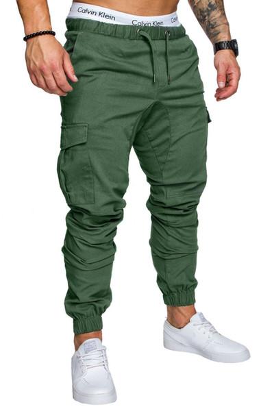 Hommes Joggers 2018 Hommes Pantalons Hommes Pantalons Casual Pantalon Solide Jogger Kaki Noir Grande Taille 4XL