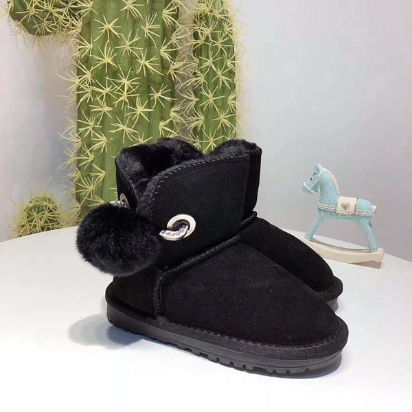 d548f3dcb793e Noël Nouvelle mode Bottes fourrées One pour enfants Bottes en coton  antidérapantes Épaississent chaussures pour garçons avec enfants