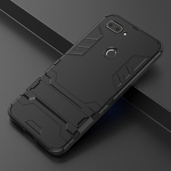 Hybrid 2 in 1 Hard PC +TPU Back Cover Case For Xiaomi MI 8 SE Lite Pocophone F1 Redmi Note 6 Pro S2 6A A2 6X with Stand Flexible Armor