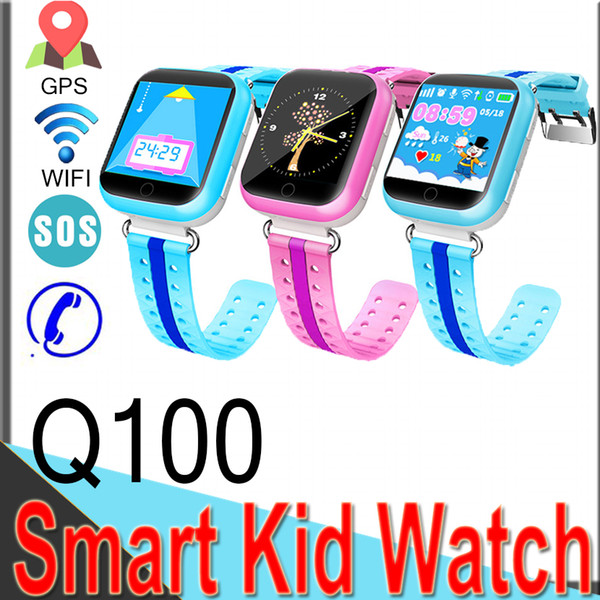 Q100 GPS LBS Smart Watches Baby Watch with WIFI 1.54inch Touch Screen SOS Call Location Device Tracker Kid Safe Q50 Q12