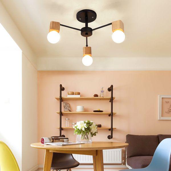 Großhandel AC100V ~ 240V E27 Holz LED Deckenleuchten Wohnzimmer  Schlafzimmer Moderne Deckenleuchte Moderne Lüster De Sala Plafon Luminarie  Lights Von ...