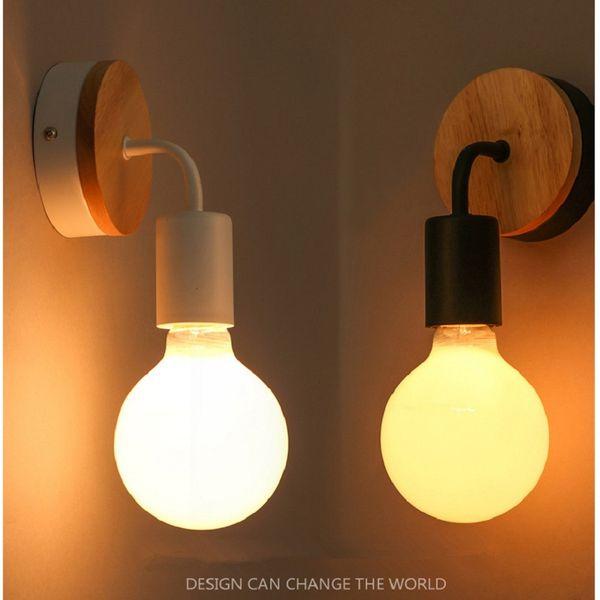 Acheter Moderne Nordique Moderne Minimaliste En Fer Forgé Applique Murale  Chambre Lampe De Chevet Salon De $28.07 Du Yaolanlighting | DHgate.Com